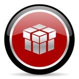 Pudełkowata ikona Obrazy Stock