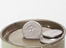 pudełkowata moneta Zdjęcie Stock