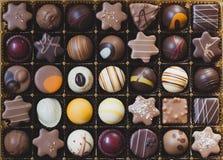 pudełkowate czekoladki Zdjęcie Stock