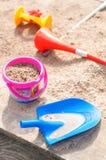 Pudełkowate piasek Zabawki Fotografia Royalty Free