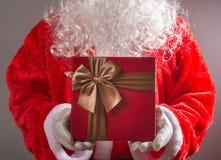 pudełkowatego Claus prezenta mienia ilustracyjny Santa wektor Zdjęcia Royalty Free