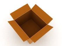 pudełkowatego kartonu odgórny widok Obrazy Stock