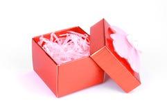 pudełkowatego prezenta czerwony biel Fotografia Stock