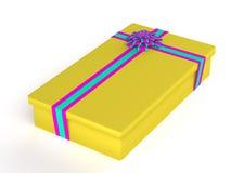 pudełkowatego prezenta odosobniony biel Obrazy Royalty Free