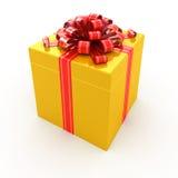 pudełkowatego prezenta odosobniony biel Zdjęcia Stock