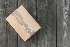 pudełkowatej dostawy odosobniony biel Obrazy Royalty Free