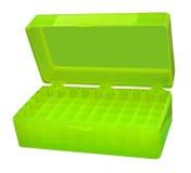 pudełkowatej zieleni odosobniony medyczny otwiera Fotografia Stock
