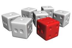 pudełkowaty cubics Zdjęcia Royalty Free