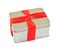 pudełkowaty czerwony faborek Obrazy Royalty Free