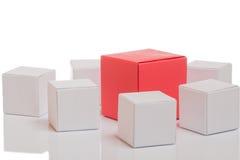 pudełkowaty czerwony unikalny Zdjęcia Royalty Free