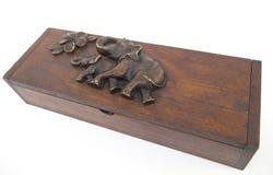 pudełkowaty drewno Fotografia Stock