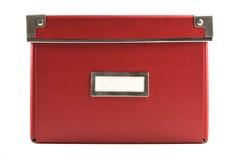 pudełkowaty etykietki papieru czerwony biel Zdjęcie Stock