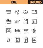 Pudełkowaty ikona set Obrazy Royalty Free