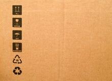 pudełkowaty karton Zdjęcia Royalty Free