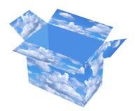 pudełkowaty niebo Fotografia Royalty Free