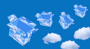 pudełkowaty niebo ilustracji