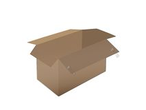 pudełkowaty paperboard Zdjęcia Royalty Free