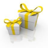 pudełkowaty prezent dwa Fotografia Royalty Free