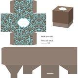 Pudełkowaty prezenta szablon Obrazy Royalty Free