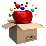pudełkowaty serce Obraz Royalty Free