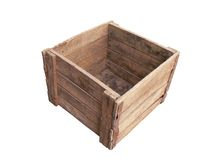 pudełkowaty stary drewniany zdjęcia stock