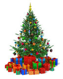 pudełek boże narodzenia dekorujący prezenta rozsypiska drzewo Zdjęcia Stock