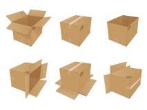 pudełek kartonowy setu wektor Zdjęcie Stock