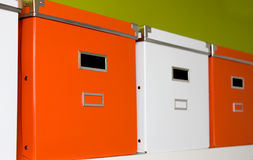 pudełko kartoteka Zdjęcia Stock