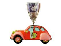 pudełko samochodu pieniądze Obraz Royalty Free