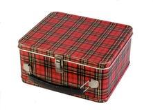 pudełkowatego dziecko lunchu szkockiej kraty s stara szkoła Zdjęcie Stock