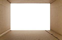 pudełkowatego kartonu odosobneni cienie biały Obrazy Stock