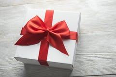 pudełkowaty teraźniejszy biel Fotografia Royalty Free