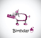 Pudel för kort för lycklig födelsedag vektor illustrationer