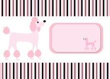 Pudel-Hund Stripes Kartenhintergrund lizenzfreie abbildung