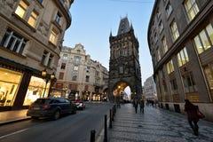 Puder-Kontrollturm, Prag Stockbild