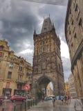 Puderkontrollturm in Prag stockfotografie