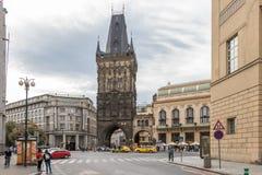 Puderkontrollturm in Prag stockfoto