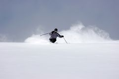Puderskifahren Lizenzfreie Stockfotografie