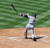 Pudge Rodriguez swinging Royalty Free Stock Images