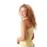 Pudgy caucasian girl Royalty Free Stock Photos