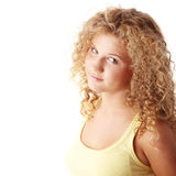 Pudgy caucasian girl Stock Images