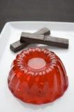Pudim com chocolate Imagem de Stock