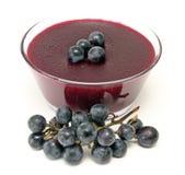 Pudim da uva vermelha fotografia de stock royalty free