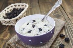 Pudim de arroz com passas Imagens de Stock Royalty Free