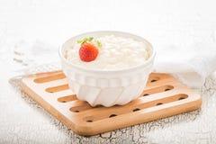 Pudim de arroz cremoso Imagens de Stock