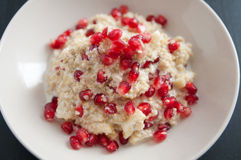Pudim de arroz do leite de coco do Quinoa foto de stock royalty free