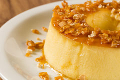Pudim de Leite - Brazilian flan made with milk and condensed mil Stock Images