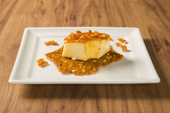 Pudim de Leite - Brazilian flan made with milk and condensed mil Stock Photography
