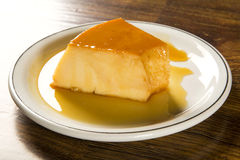 Pudim de Leite - Brazilian flan made with milk and condensed mil Stock Photos