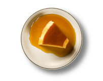 Pudim de Leite - Brazilian flan made with milk and condensed mil Stock Photo